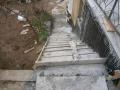 Die Treppe mit den Feuchtigkeitsproblemen
