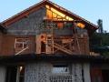Baustelle im Abendlicht